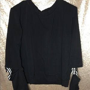 Bobeau Women's Black Sweater with Straps